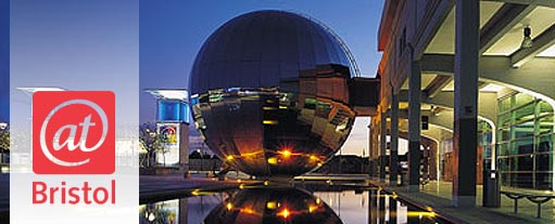 An image of Millenium Square in Bristol, location of the @bristol science and discovery centre.